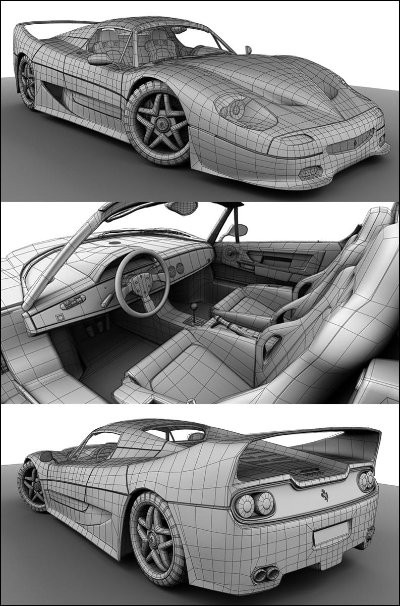 Ferrari Wireframe