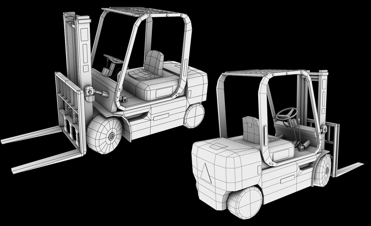 Forklift Wireframe